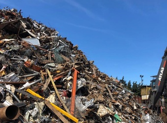 Stockpile of Ferrous and Non Ferrous Metal